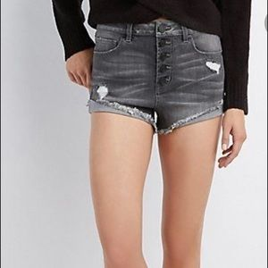 Refuge Button Fly Jean Shorts